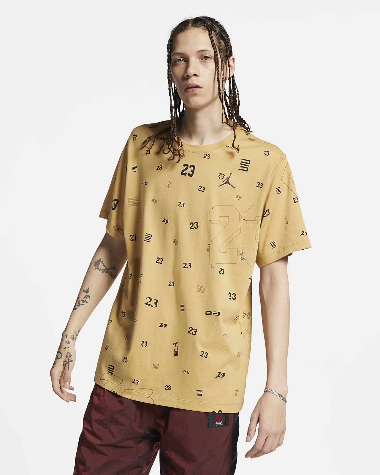 เสื้อยืดผู้ชายพิมพ์ลาย Jordan 23