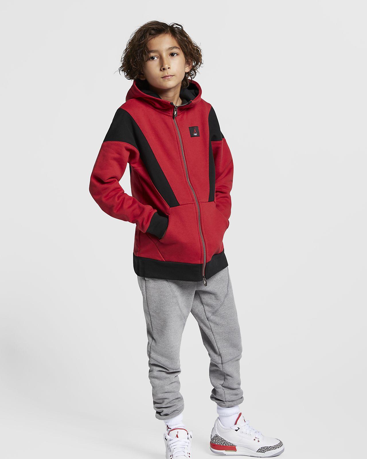 Jordan Flight Lite-hættetrøje med lynlås til store børn