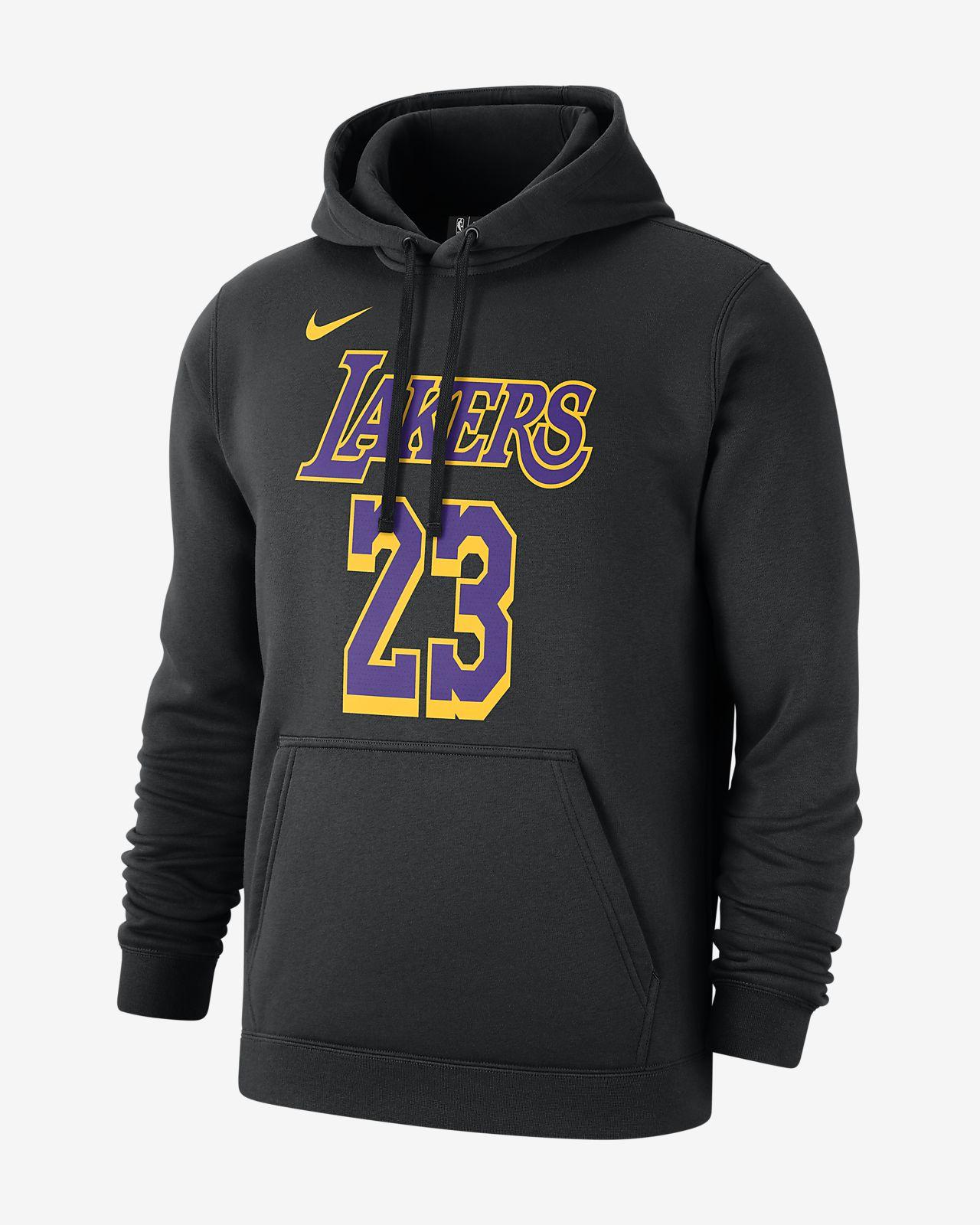 Pánská mikina NBA LeBron James Los Angeles Lakers Nike s kapucí