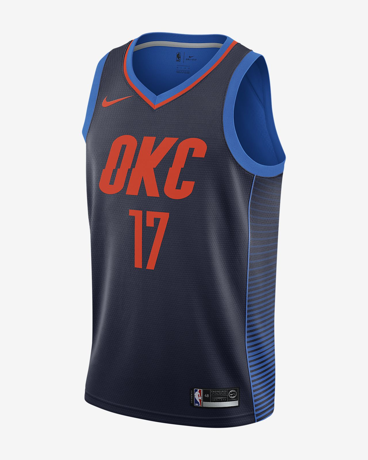 Maglia Nike NBA Connected Statement Edition Swingman (Oklahoma City Thunder) - Uomo