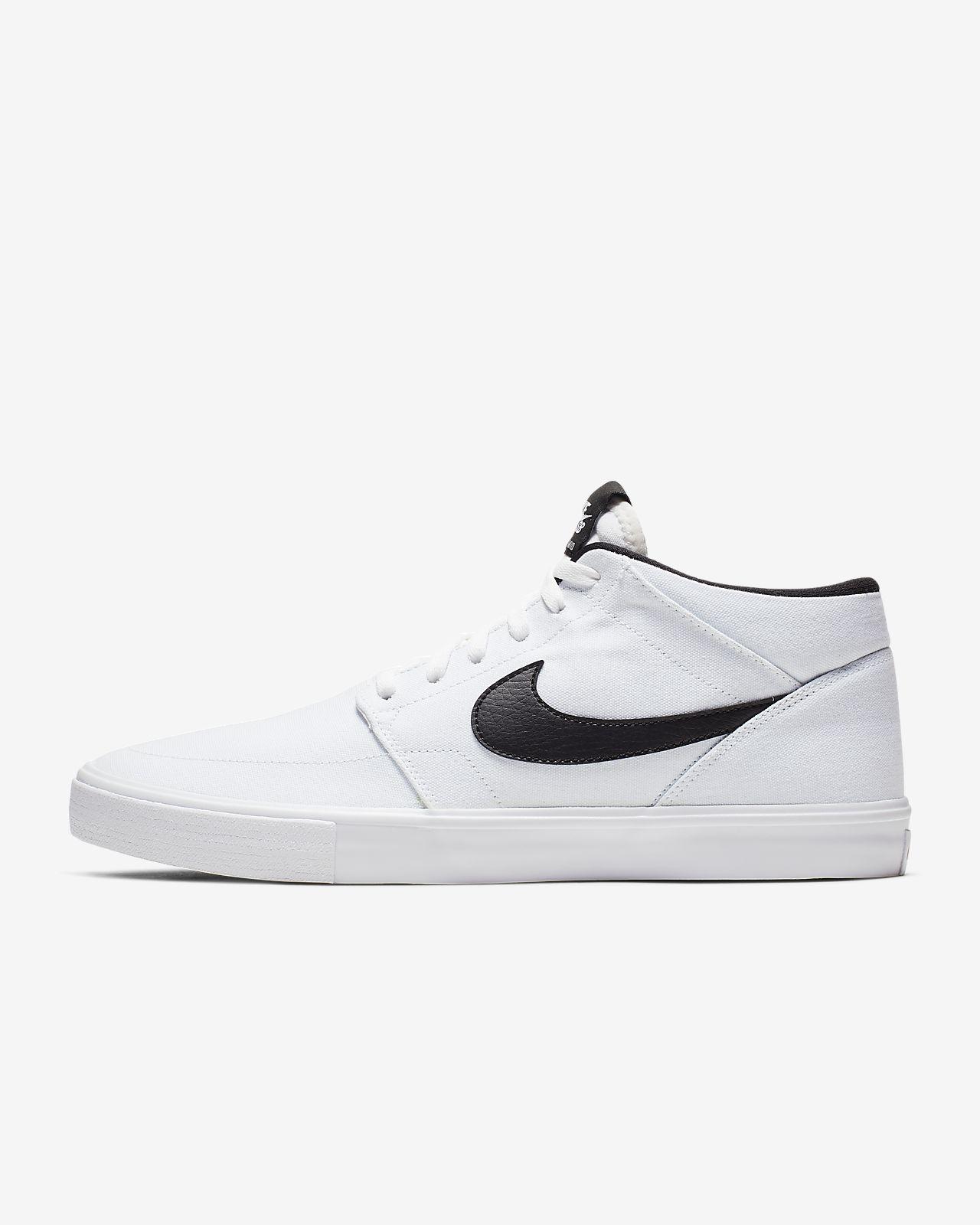 Nike SB Portmore 2 Solarsoft Mid Canvas Men's Skate Shoe
