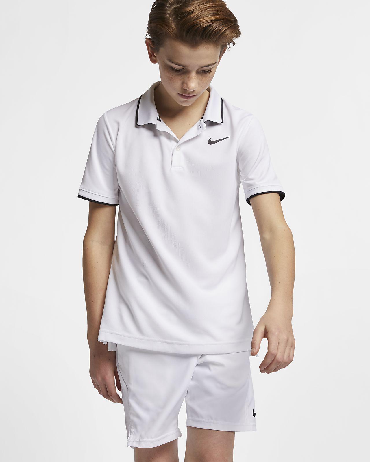Μπλούζα πόλο για τένις NikeCourt Dri-FIT για μεγάλα αγόρια