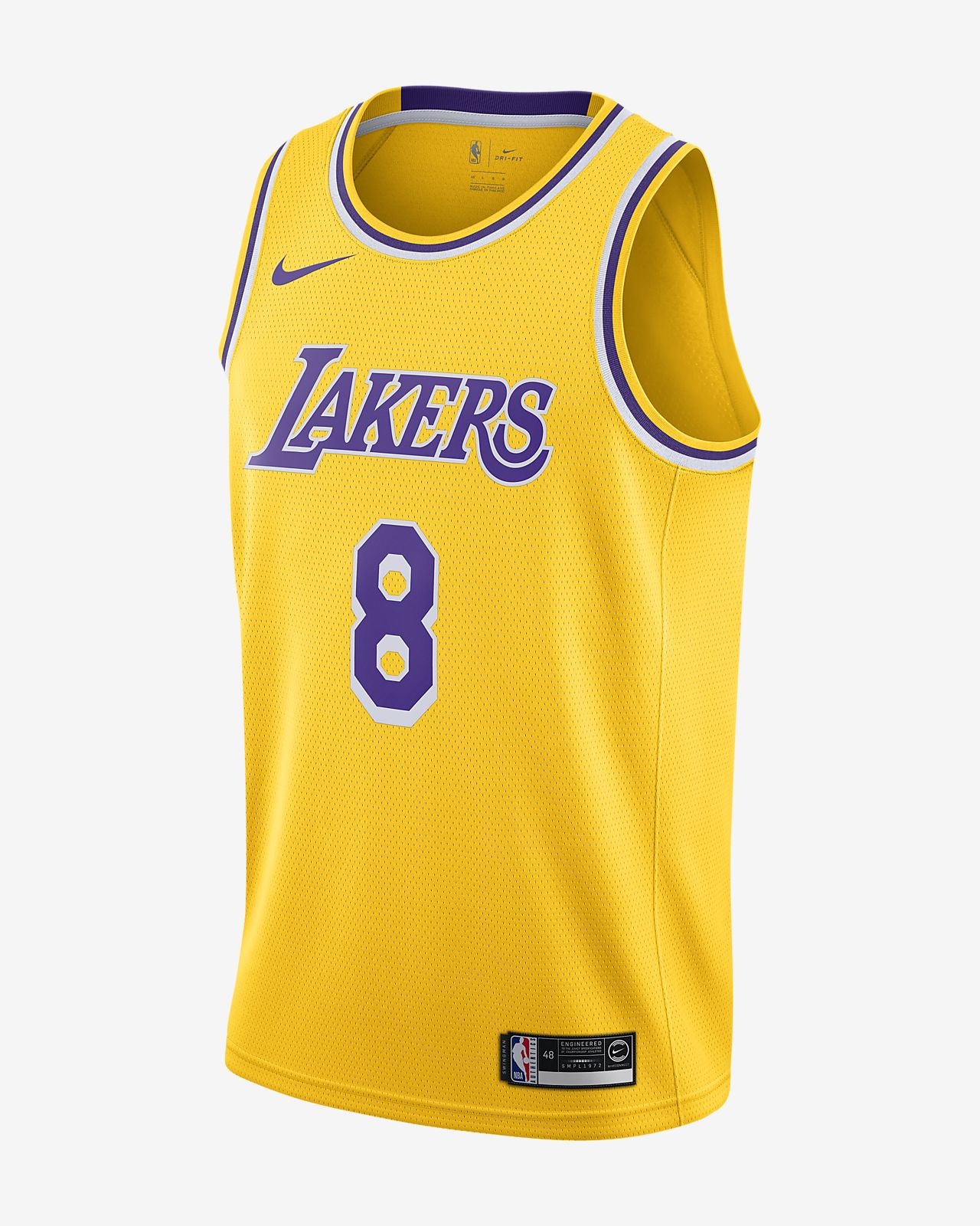 洛杉矶湖人队 (Kobe Bryant) Icon Edition Swingman Nike NBA Connected Jersey 男子球衣