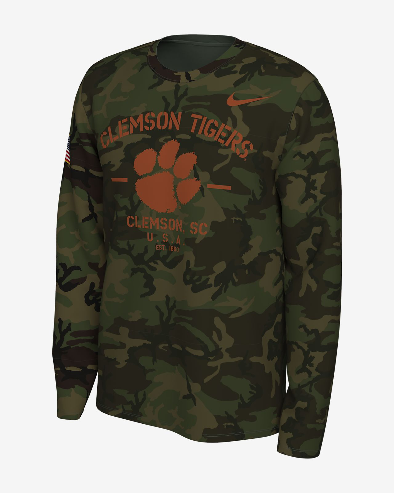 Nike College Legend (Clemson) Men's Long-Sleeve T-Shirt