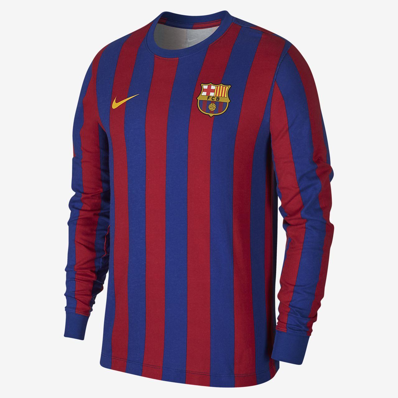 เสื้อยืดแขนยาวผู้ชาย FC Barcelona
