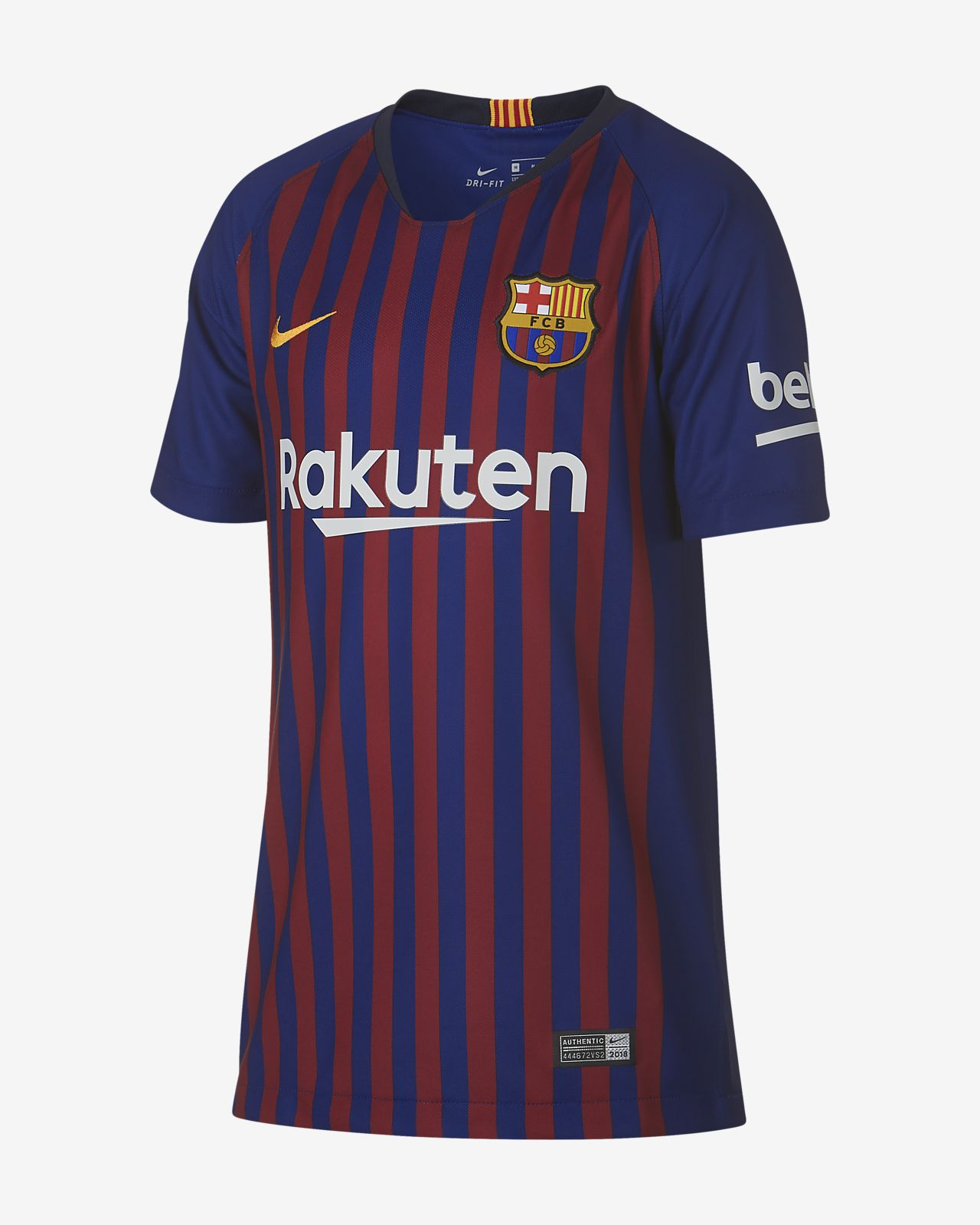 competitive price d3a14 3c4f1 2018/19 FC Barcelona Stadium Home Big Kids' Soccer Jersey