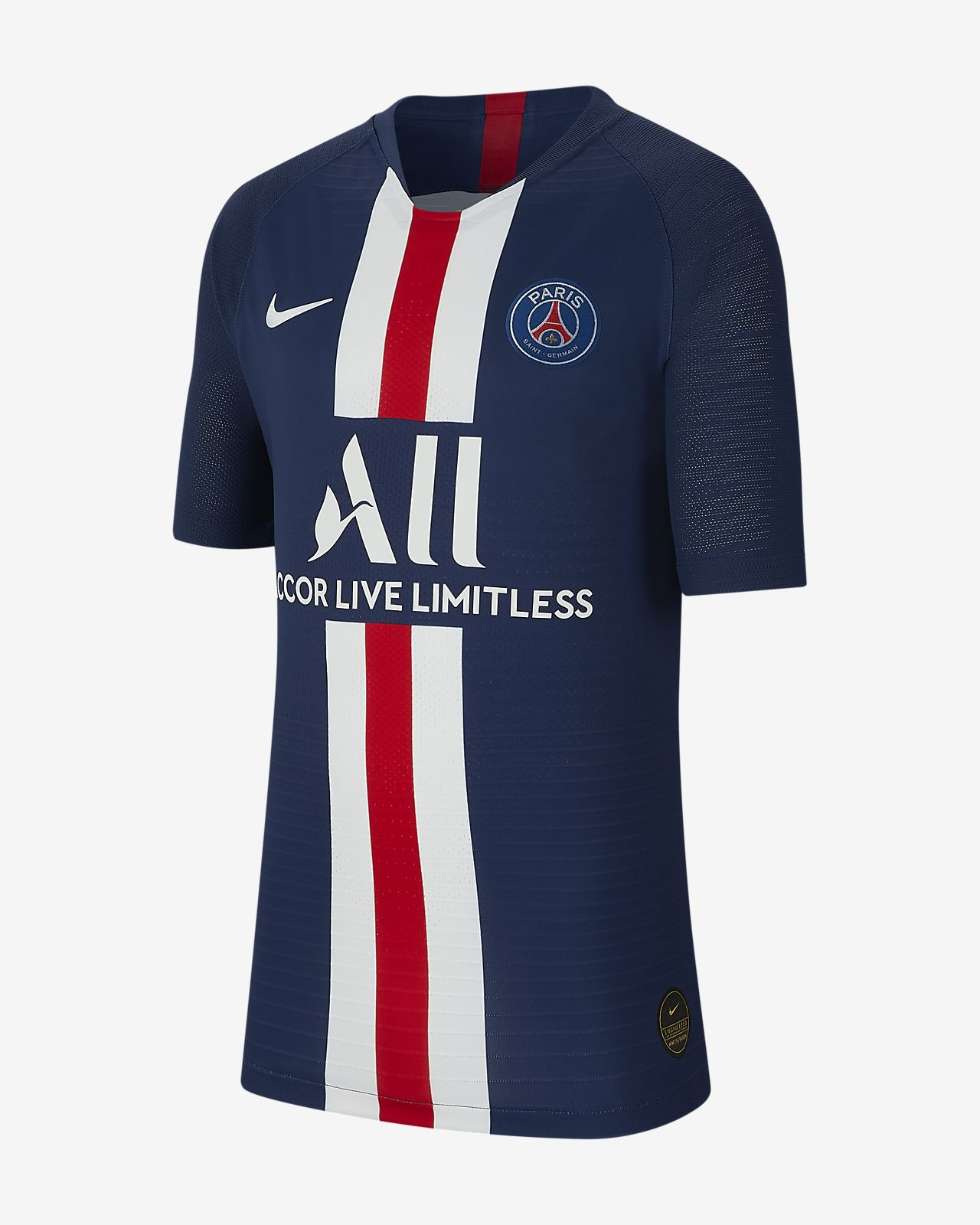 Paris Saint-Germain 2019/20 Vapor Match Home Older Kids' Football Shirt