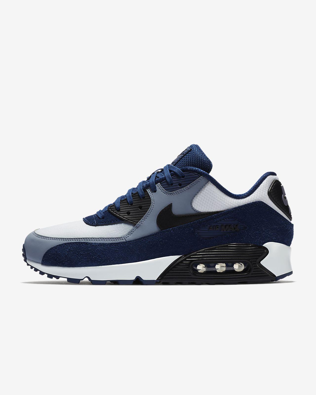 scarpa nike air max 90 leather blue voidashen slatepure