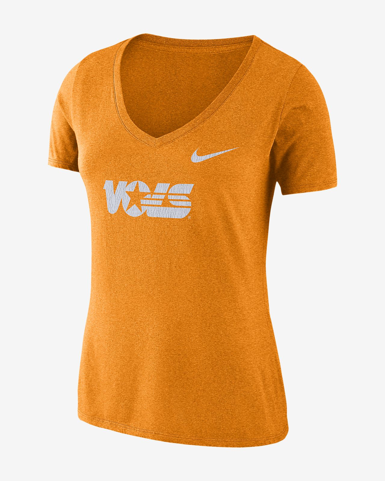 Nike College Tri-Blend Mid-V Vault Logo (Tennessee) Women's T-Shirt