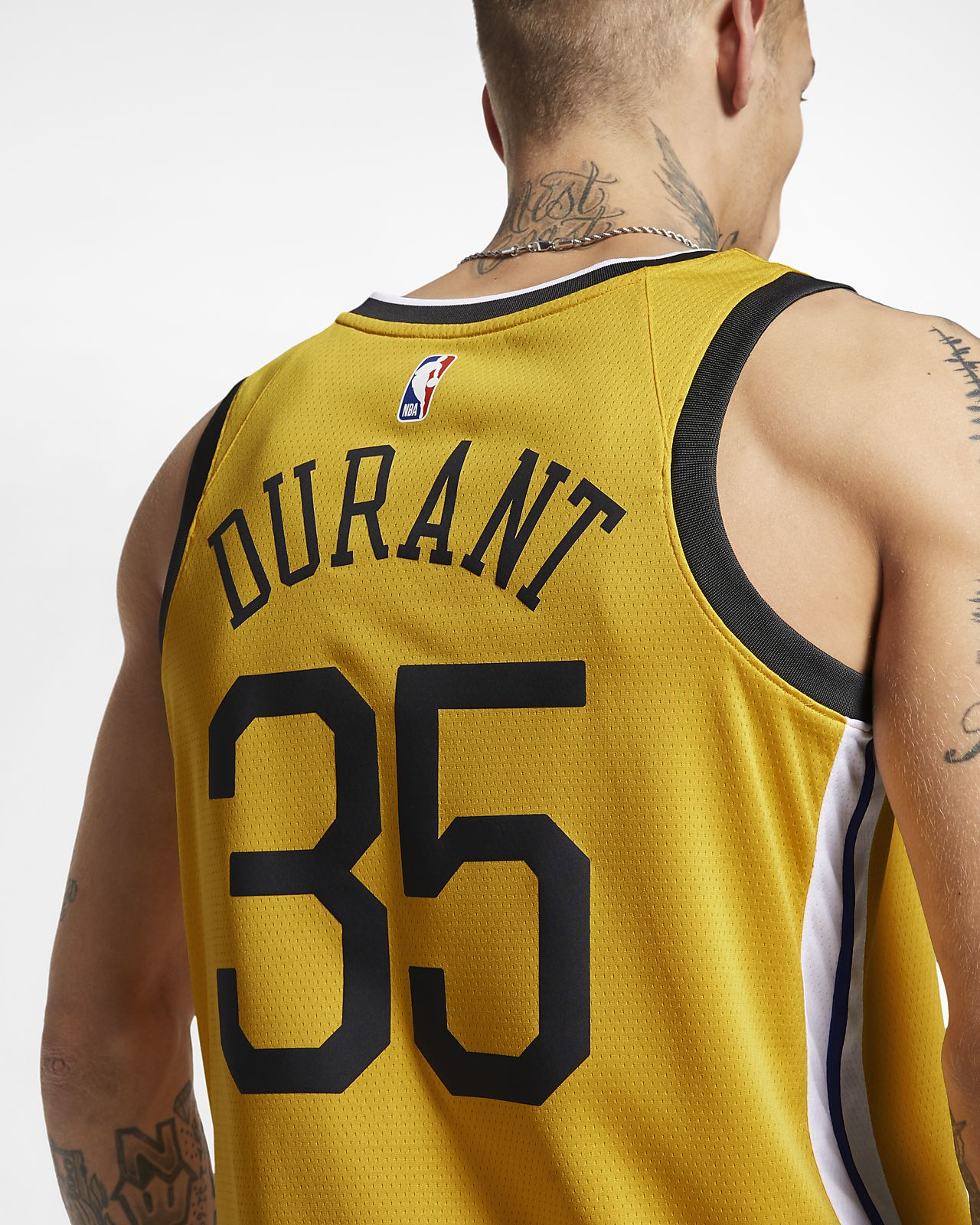 sports shoes 60632 c10e3 Kevin Durant Earned City Edition Swingman (Golden State Warriors) Men's  Nike NBA Connected Jersey