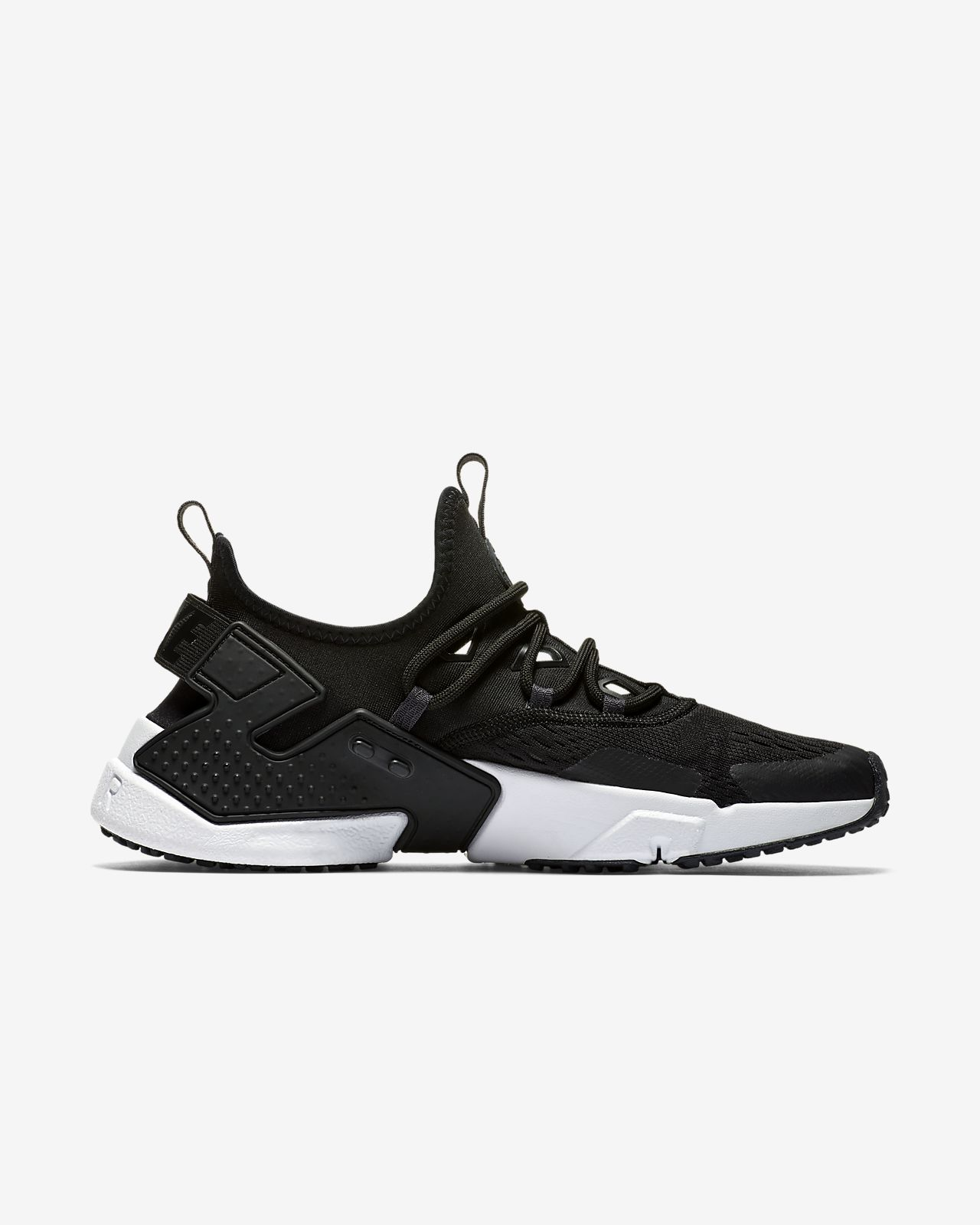New Nike Men's Air Huarache Drift Breathe Shoes (AO1133-002)  Black // White