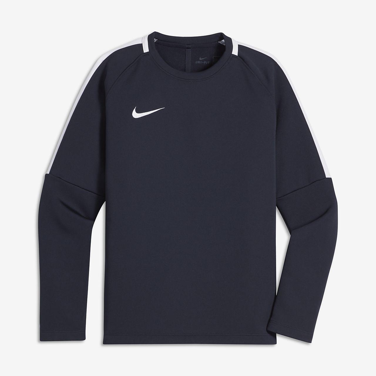 Nike Dri-FIT Academy Voetbalshirt met ronde hals voor jongens
