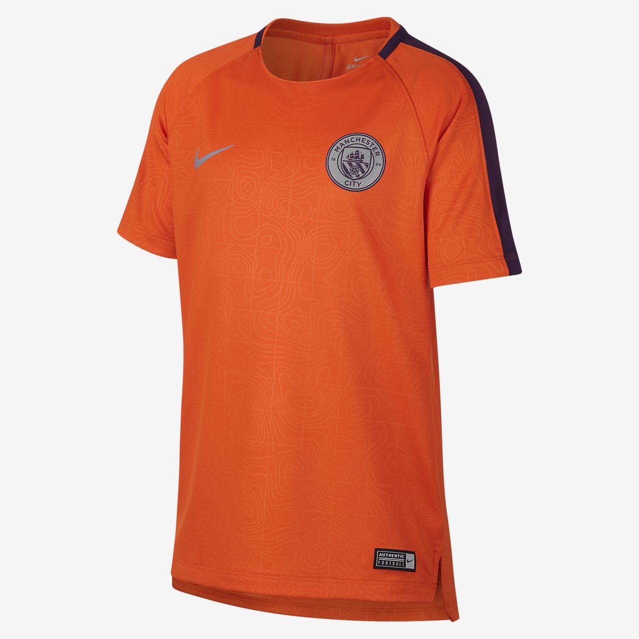 Manchester City FC Dri-FIT Squad futballfelső nagyobb gyerekeknek