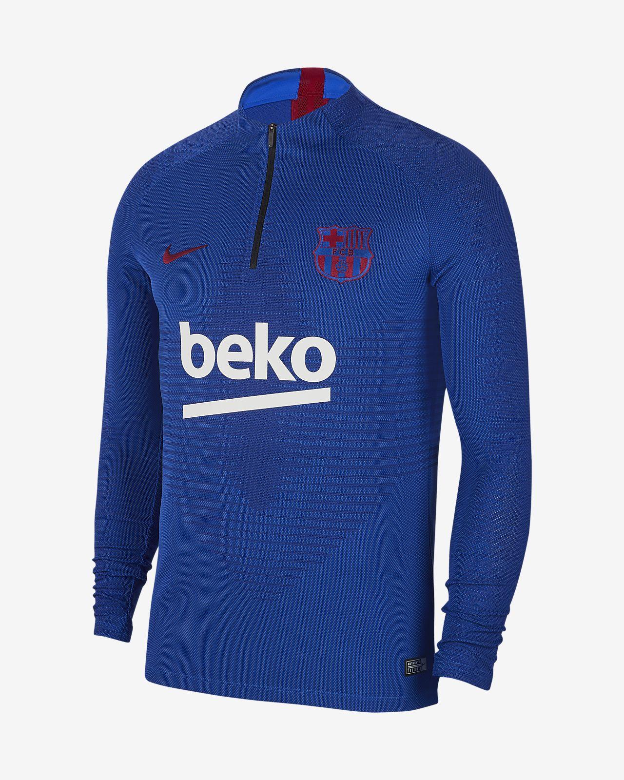 Nike VaporKnit FC Barcelona Strike-fodboldtræningsoverdel til mænd