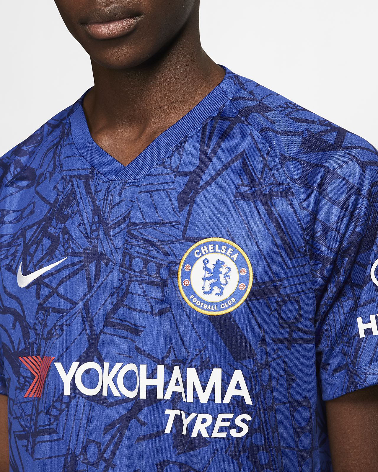 sports shoes 43333 52604 Chelsea FC 2019/20 Stadium Home Soccer Jersey