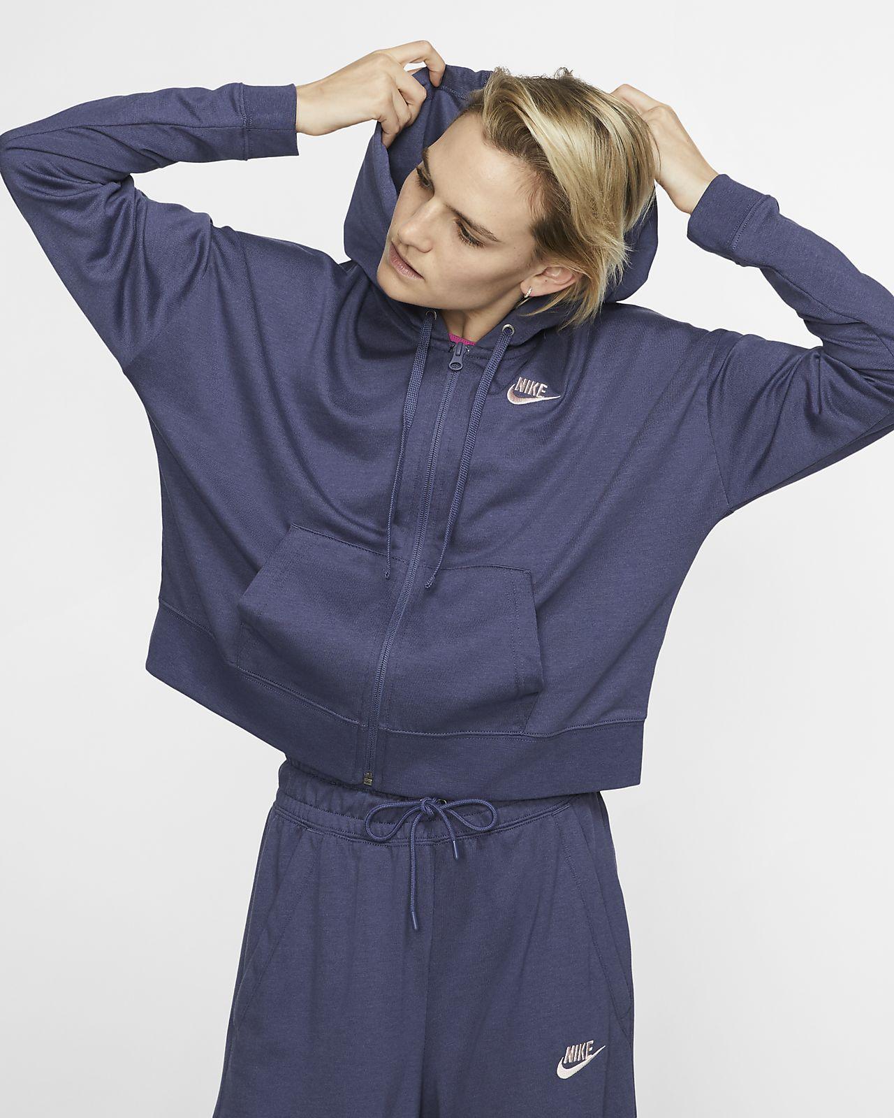 Nike Sportswear-hættetrøje med lynlås til kvinder