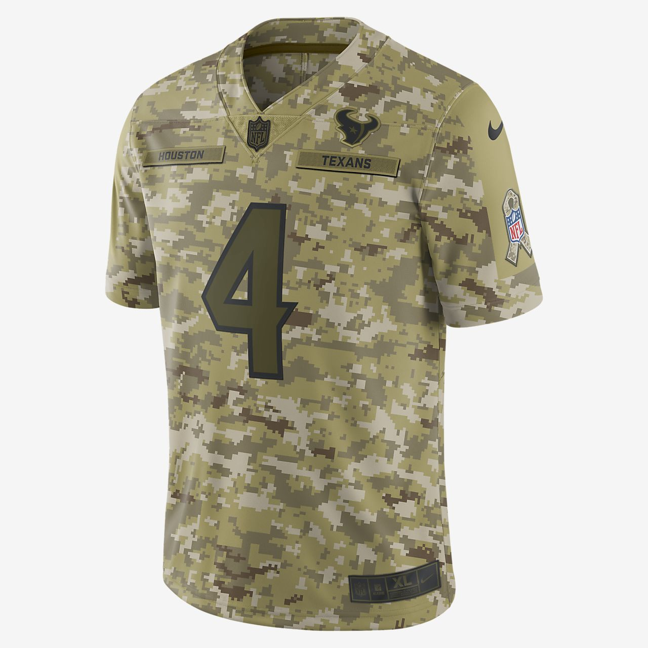 NFL Houston Texans Salute to Service (Deshaun Watson) Big Kids' Football Jersey