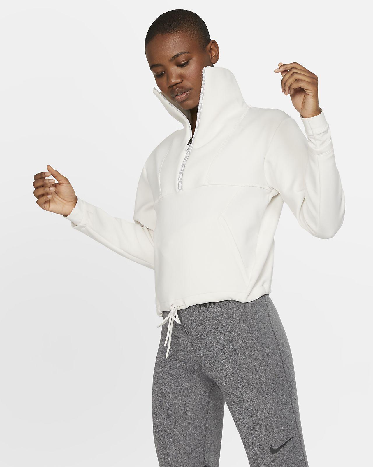 Maglia corta in fleece Nike Pro - Donna