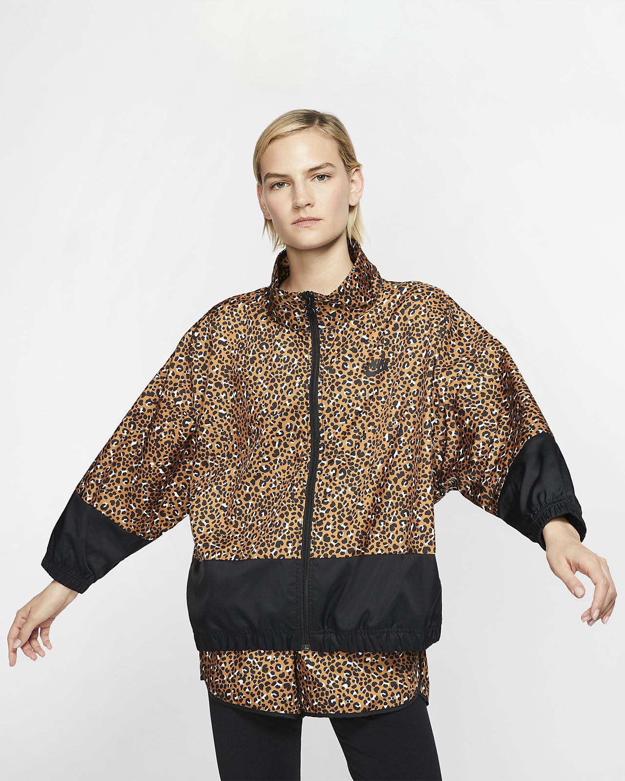 43c09912 Nike Sportswear Animal Print Woven Jacket. Nike.com GB