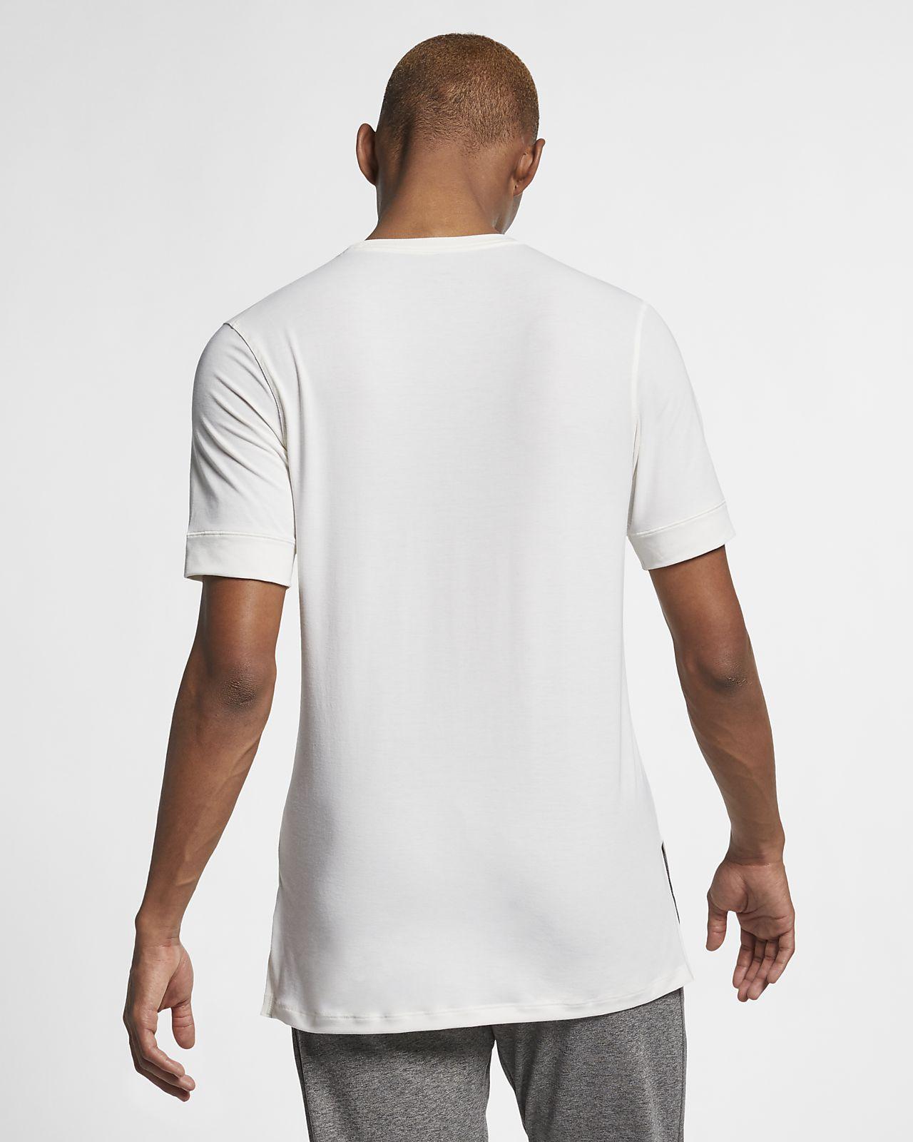 Nike Maglia Running Manica Corta Air Bianco Nero Uomo