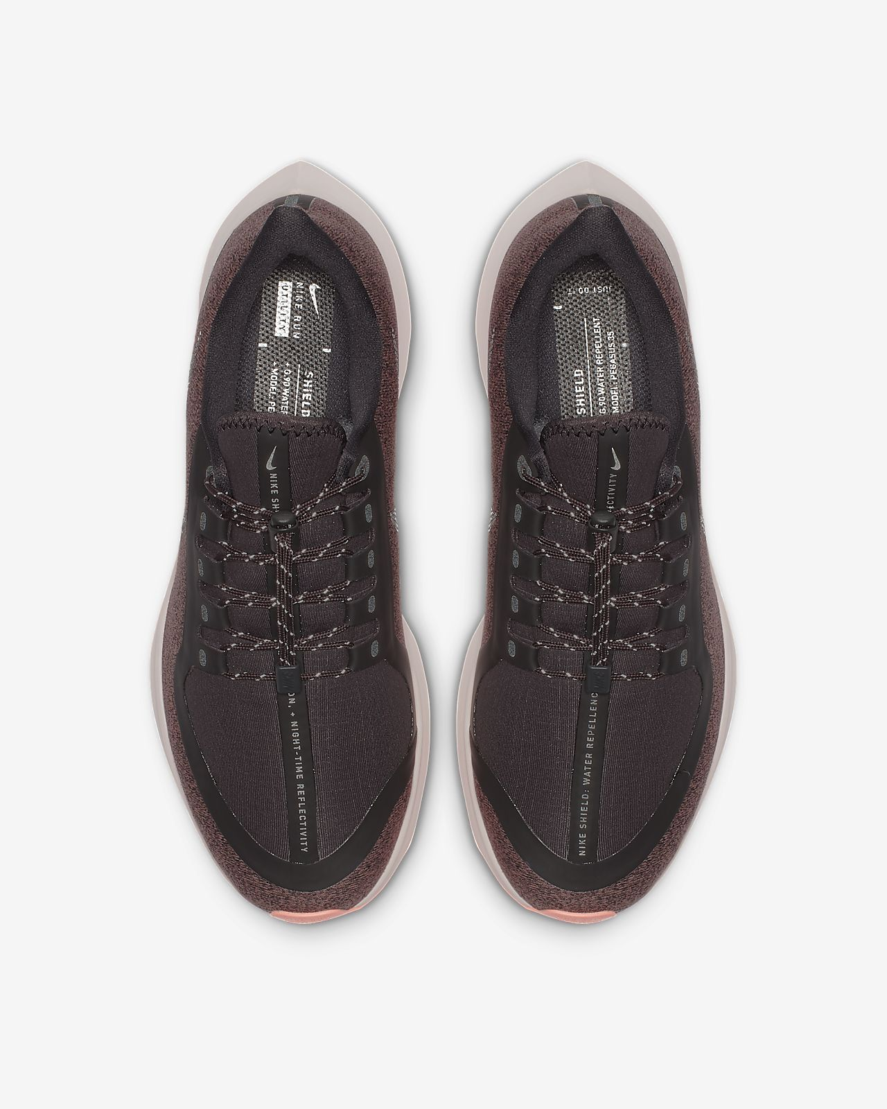 92307aed5872 Nike Air Zoom Pegasus 35 Shield Water-Repellent Women s Running Shoe ...