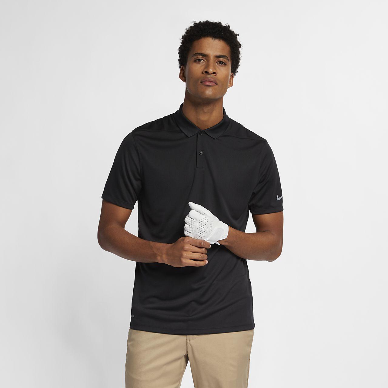 Polo de golf coupe standard Nike Dri-FIT Victory Solid pour Homme - Noir UZ4w1Z