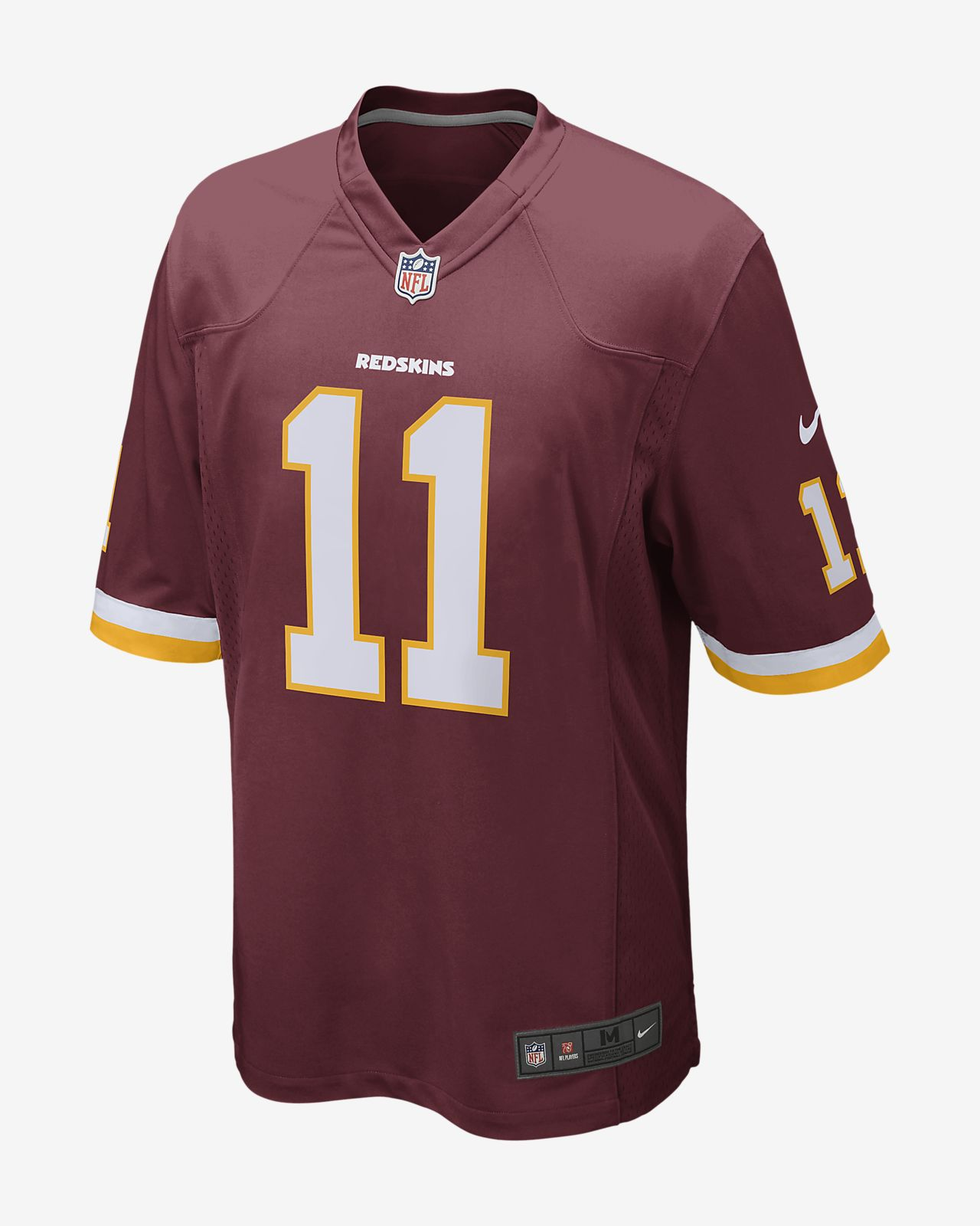 Camiseta de fútbol americano para hombre NFL Washington Redskins Game (Alex Smith)