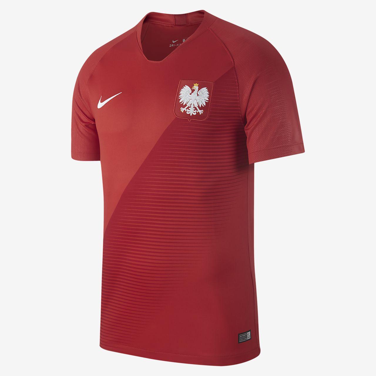 Camiseta de fútbol para hombre 2018 Poland Stadium Away