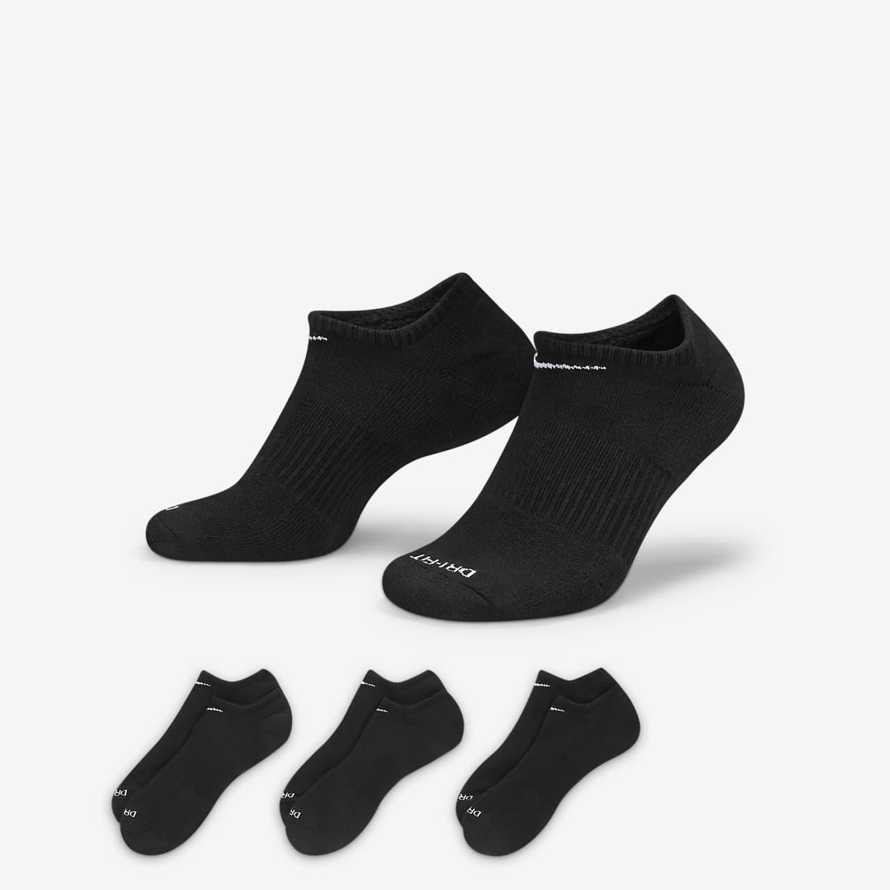 Nike Everyday Plus Cushion Training No-Show Socks (3 Pairs)