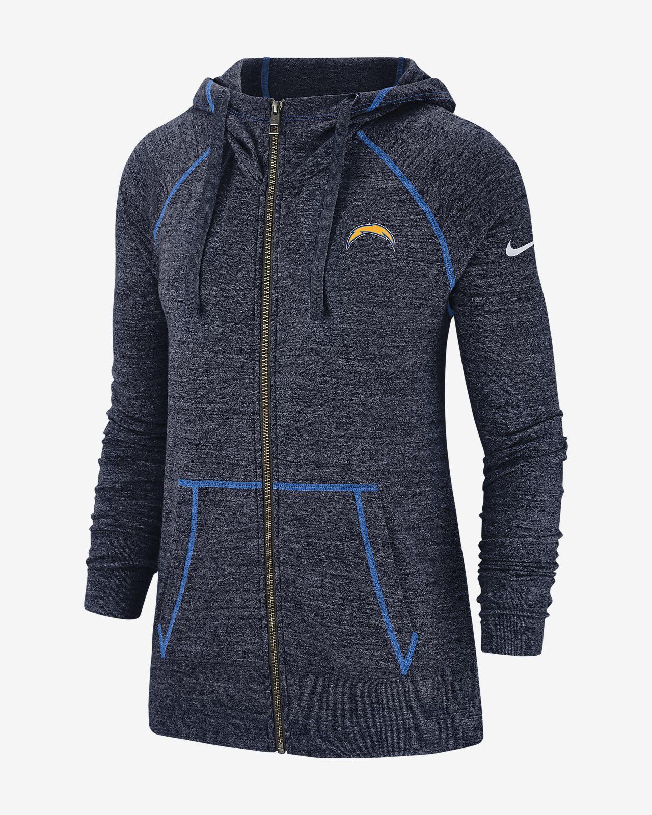 detailed look 4ca55 16a76 Nike Gym Vintage (NFL Chargers) Women's Full-Zip Hoodie