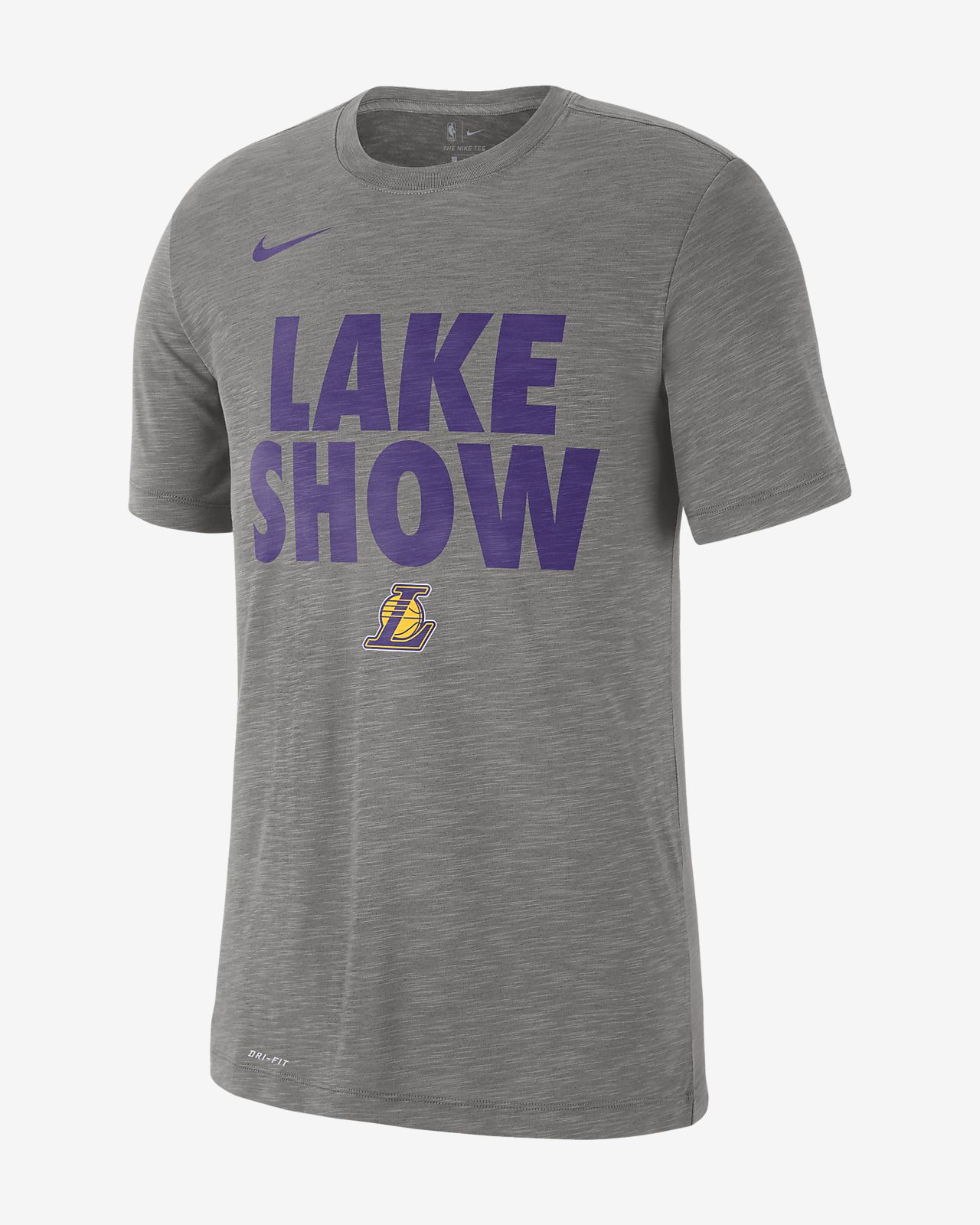 เสื้อยืด NBA ผู้ชาย Los Angeles Lakers Nike Dri-FIT