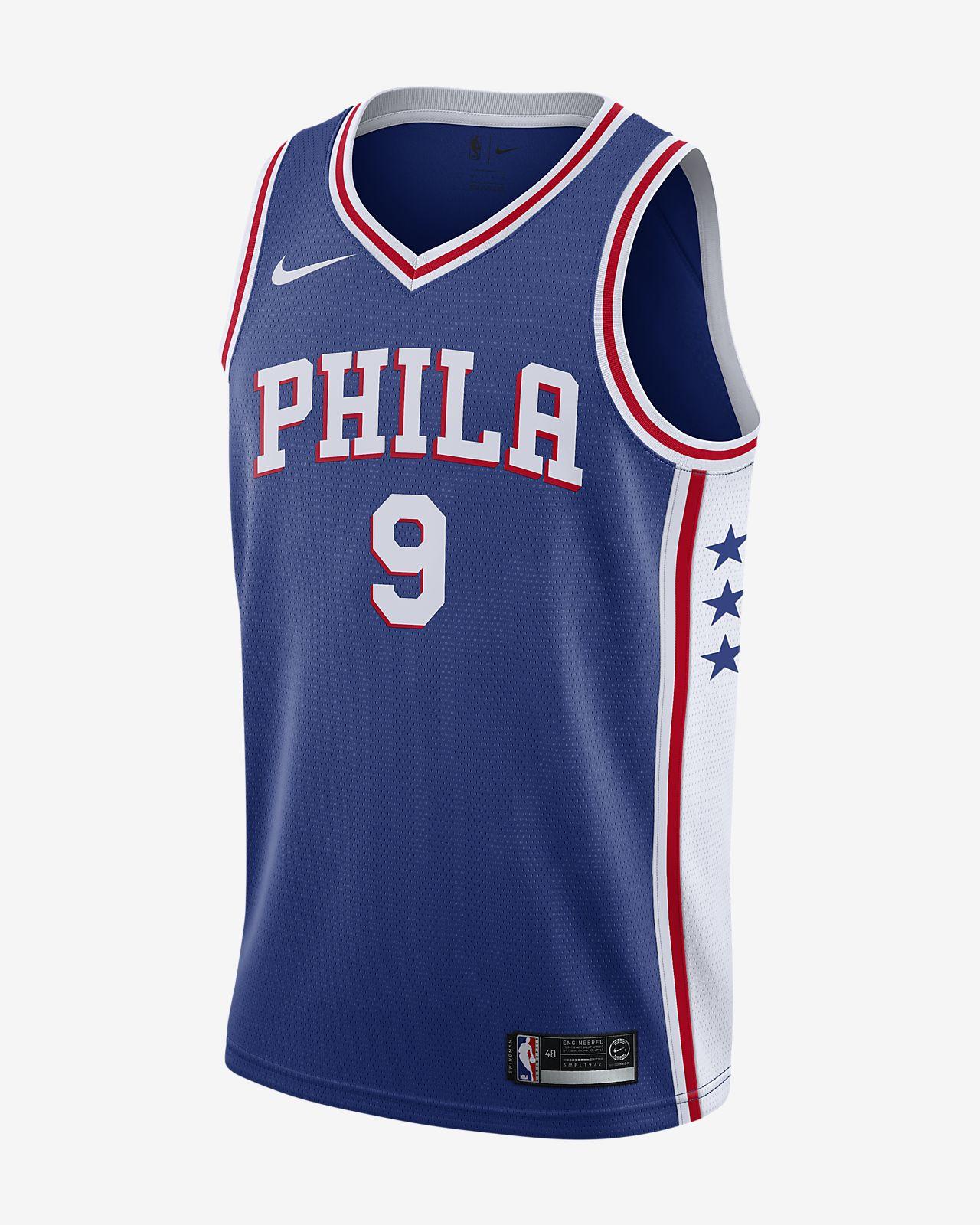 Dario Šaric Icon Edition Swingman (Philadelphia 76ers) Eşleştirilmiş Nike NBA Erkek Forması