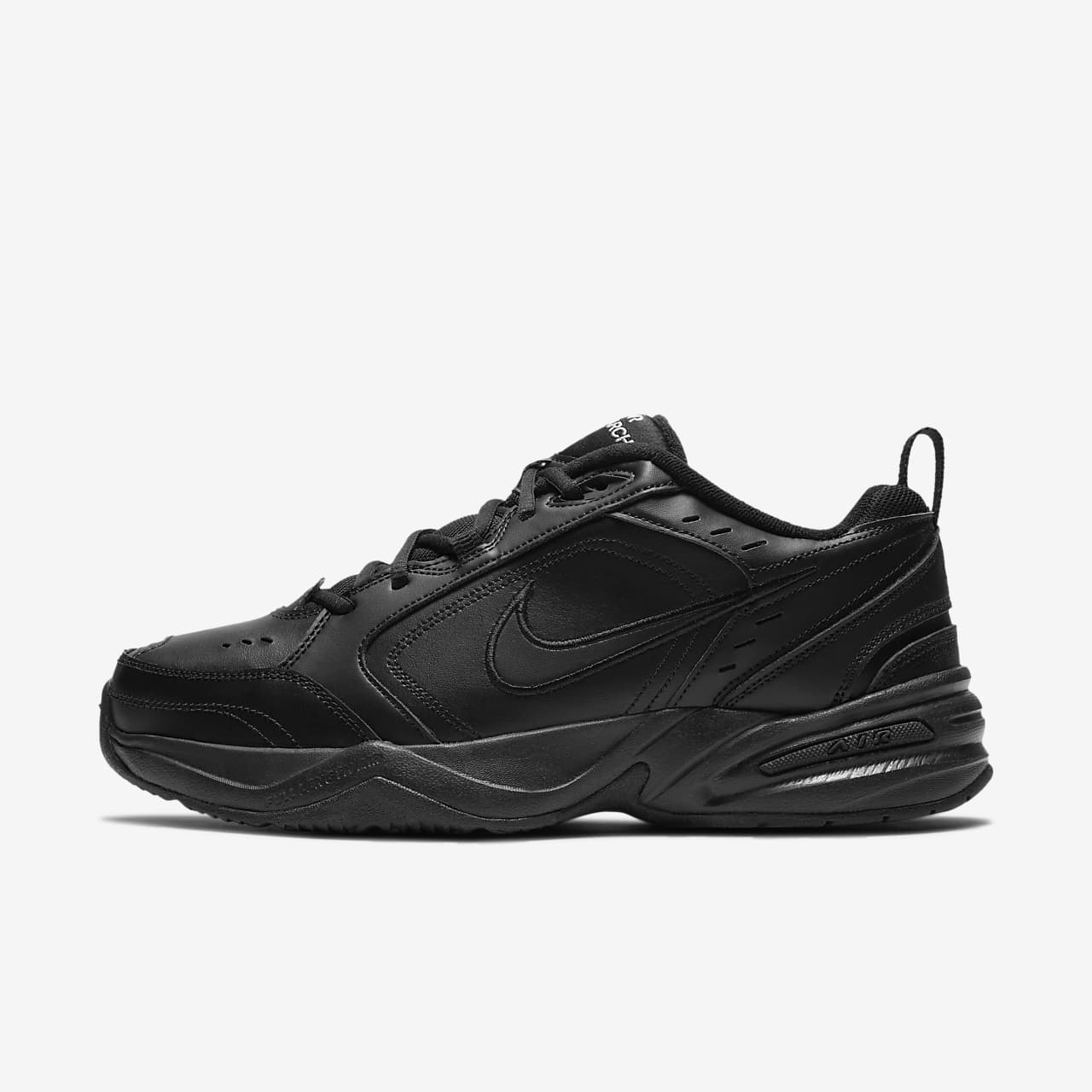 Nike Air Monarch IV Black Black Leather For Men's New In Box 415445 001