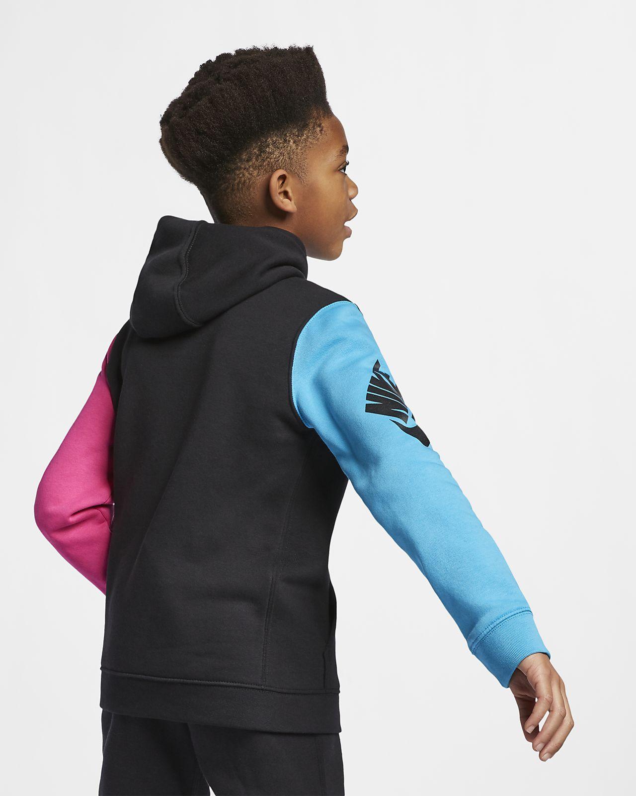 2c45335ef01e Nike Sportswear Club Fleece Big Kids  (Boys ) Pullover Hoodie. Nike.com