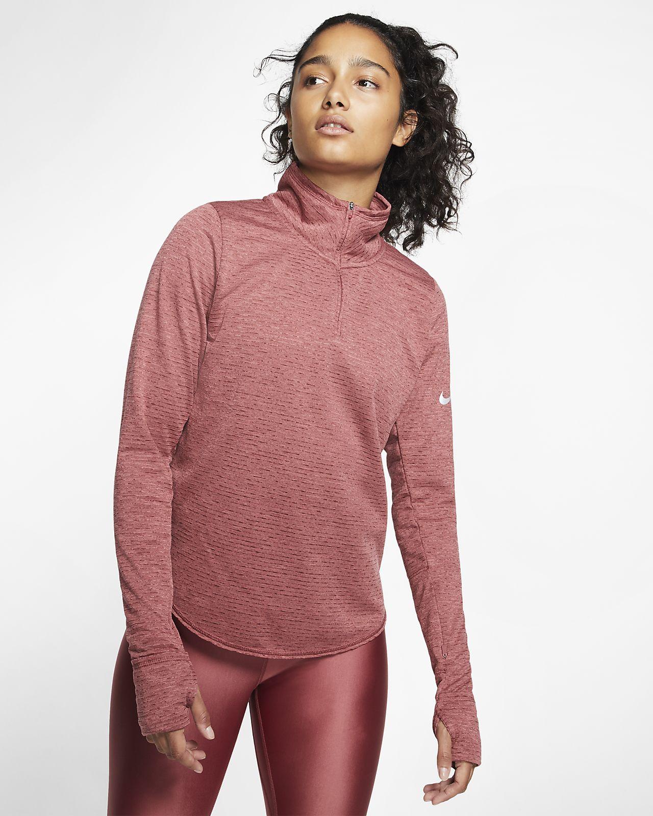 Maglia da running con zip a metà lunghezza Nike Sphere Donna
