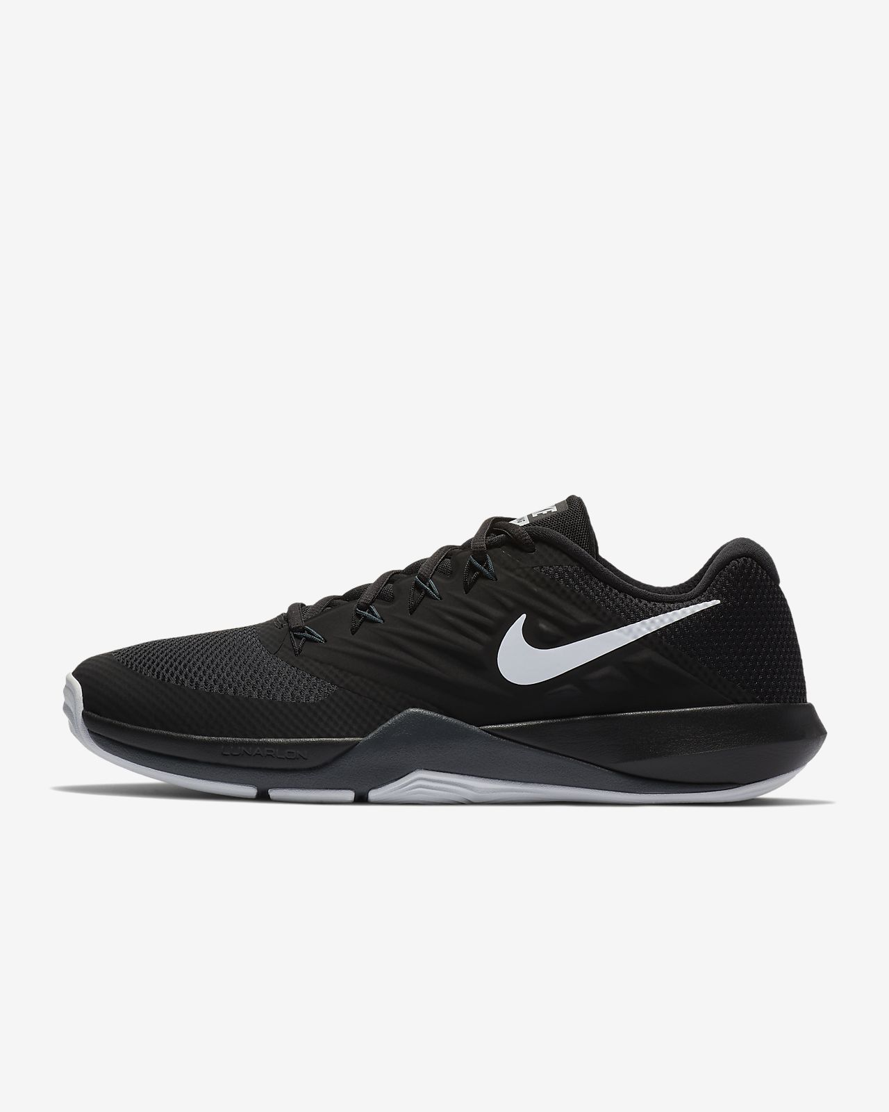 Nike Performance LUNAR PRIME IRON II - Sports shoes - black/silver/anthracite G09LOP