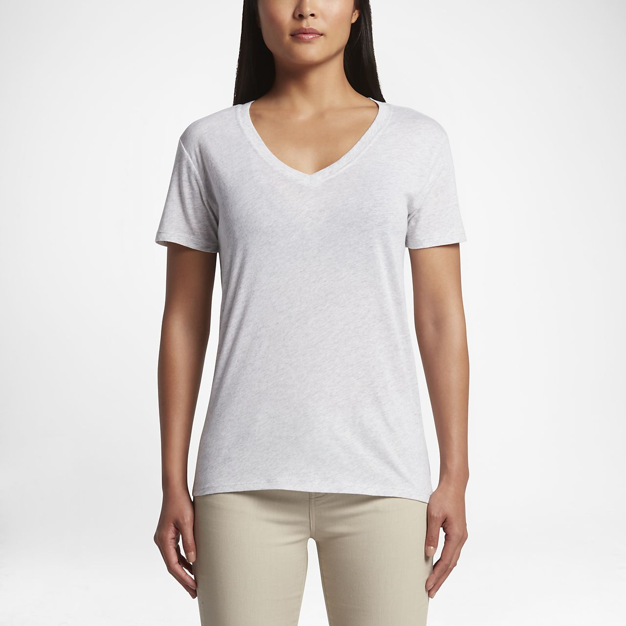Hurley Staple Perfect V Women's T-Shirts Grey Heather