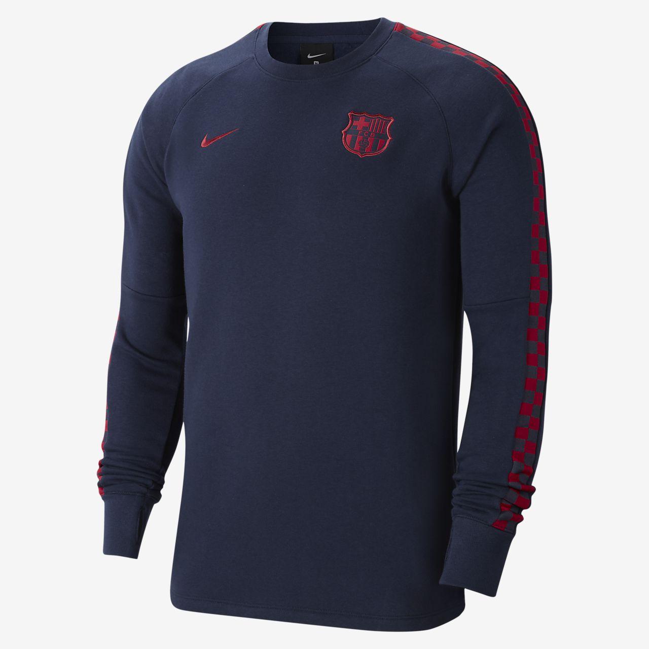 FC Barcelona - fleecetrøje med rund hals til mænd