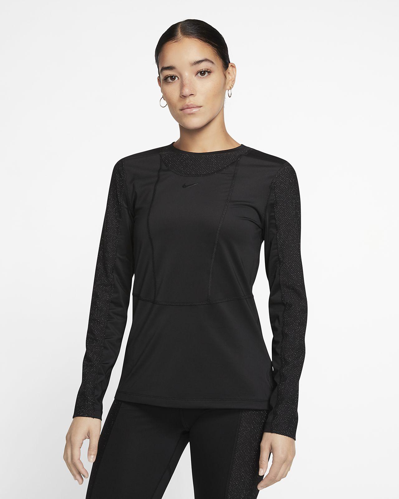 Haut à manches longues Nike Pro pour Femme