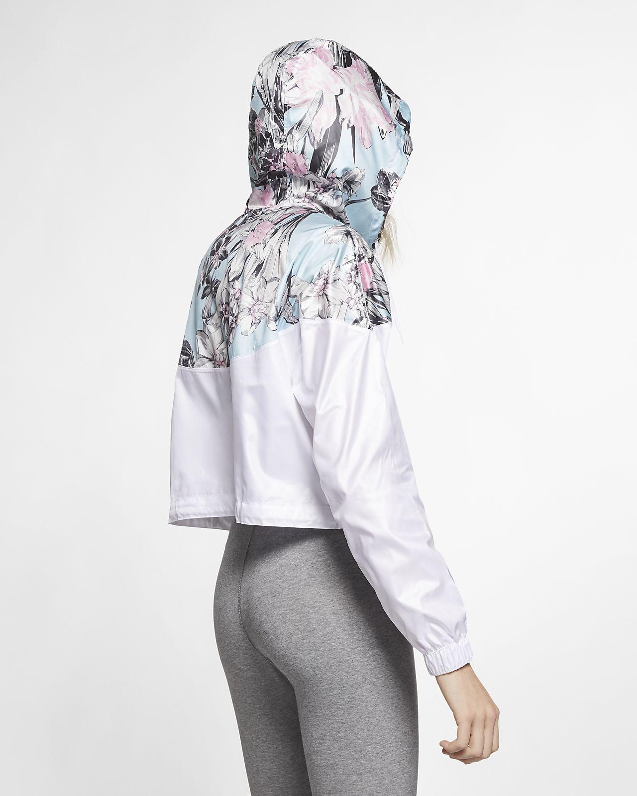 0a933f76b6 Nike Sportswear Windrunner Women s Cropped Floral Jacket. Nike.com IE