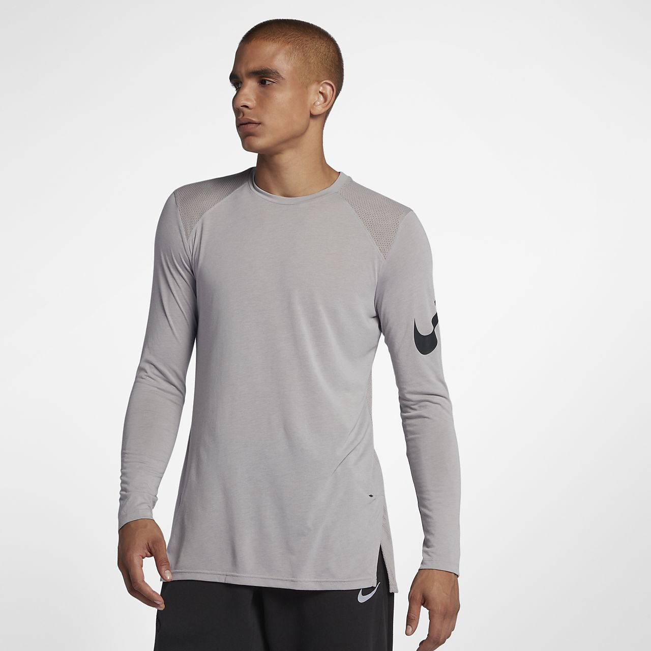 Nike Elite Men's Long Sleeve Basketball Top Black/White