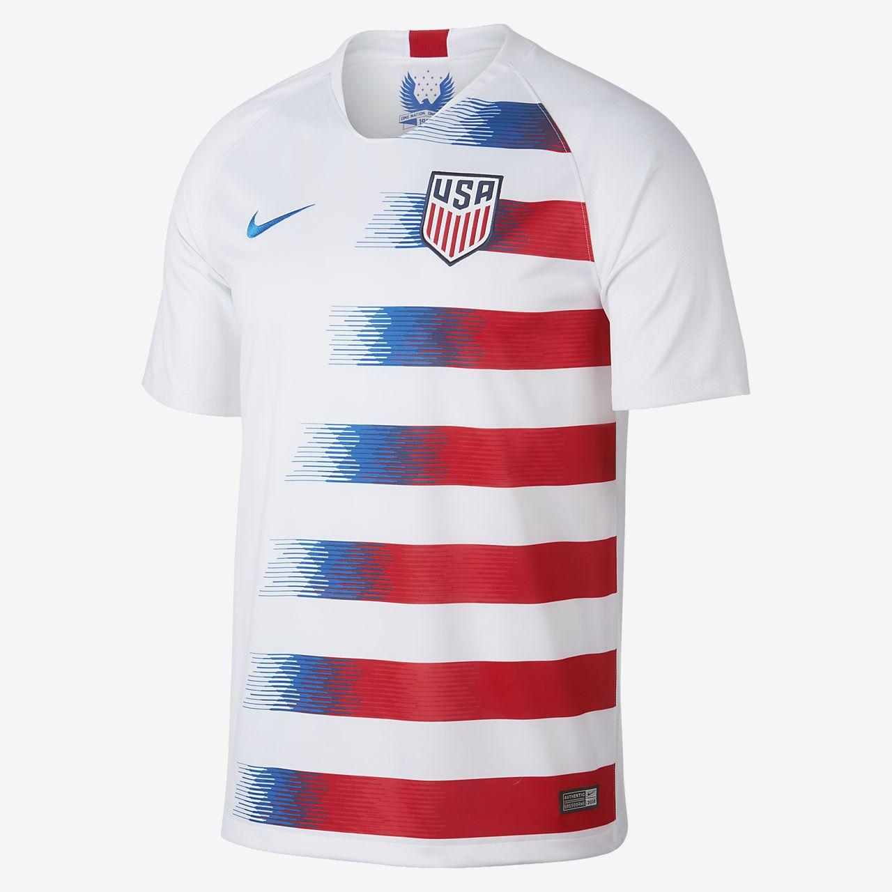 Nike USA Breathe Stadium Jersey - Men's Soccer - White/Speed Red/Blue Nebula