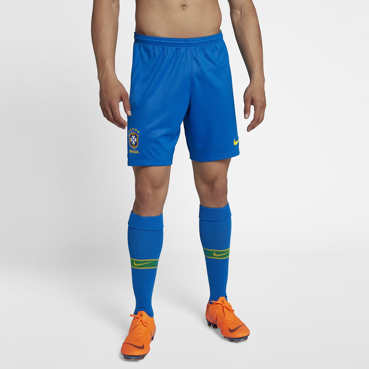 2018 Brazil CBF Stadium Home Men's Football Shorts