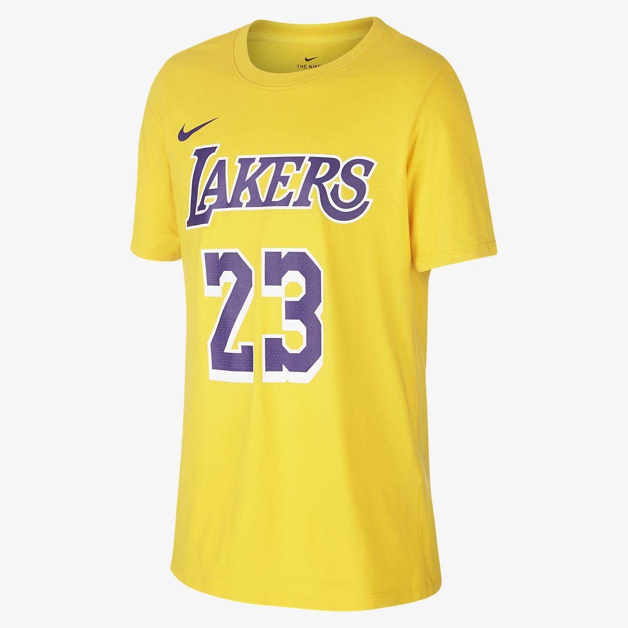 Tričko NBA LeBron James Los Angeles Lakers Nike pro větší děti