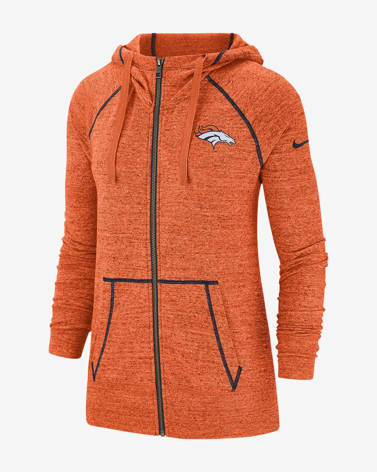 online retailer becbd 487ce Nike Gym Vintage (NFL Broncos) Women's Full-Zip Hoodie