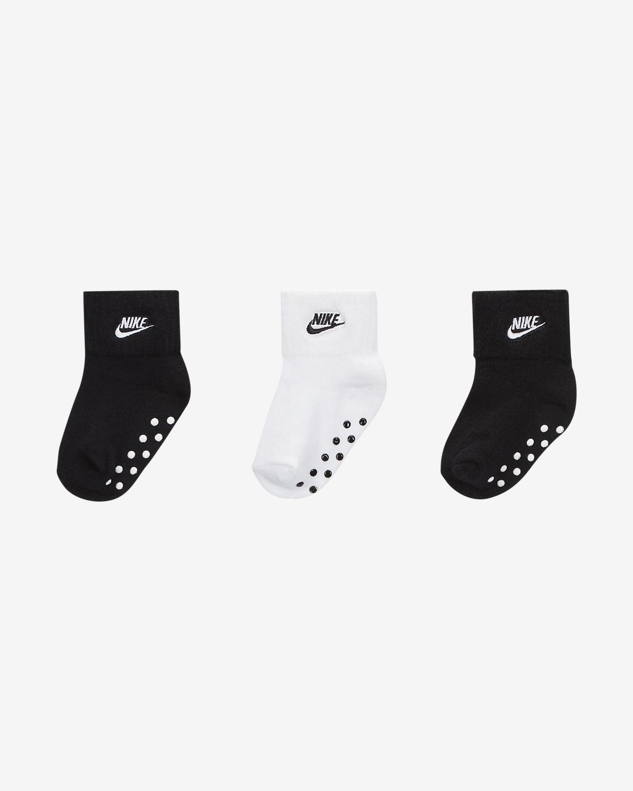 Nike Toddler Gripper Ankle Socks (3-Pack)