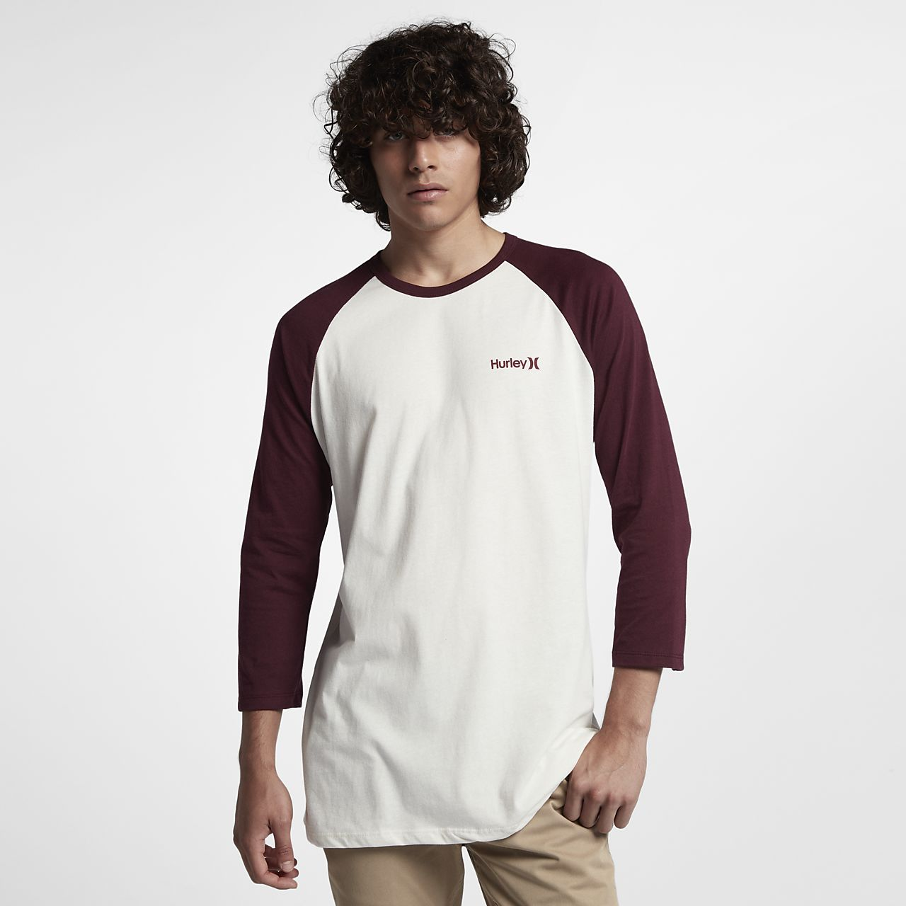 ... Hurley One And Only Raglan Men's 3/4-Sleeve T-Shirt
