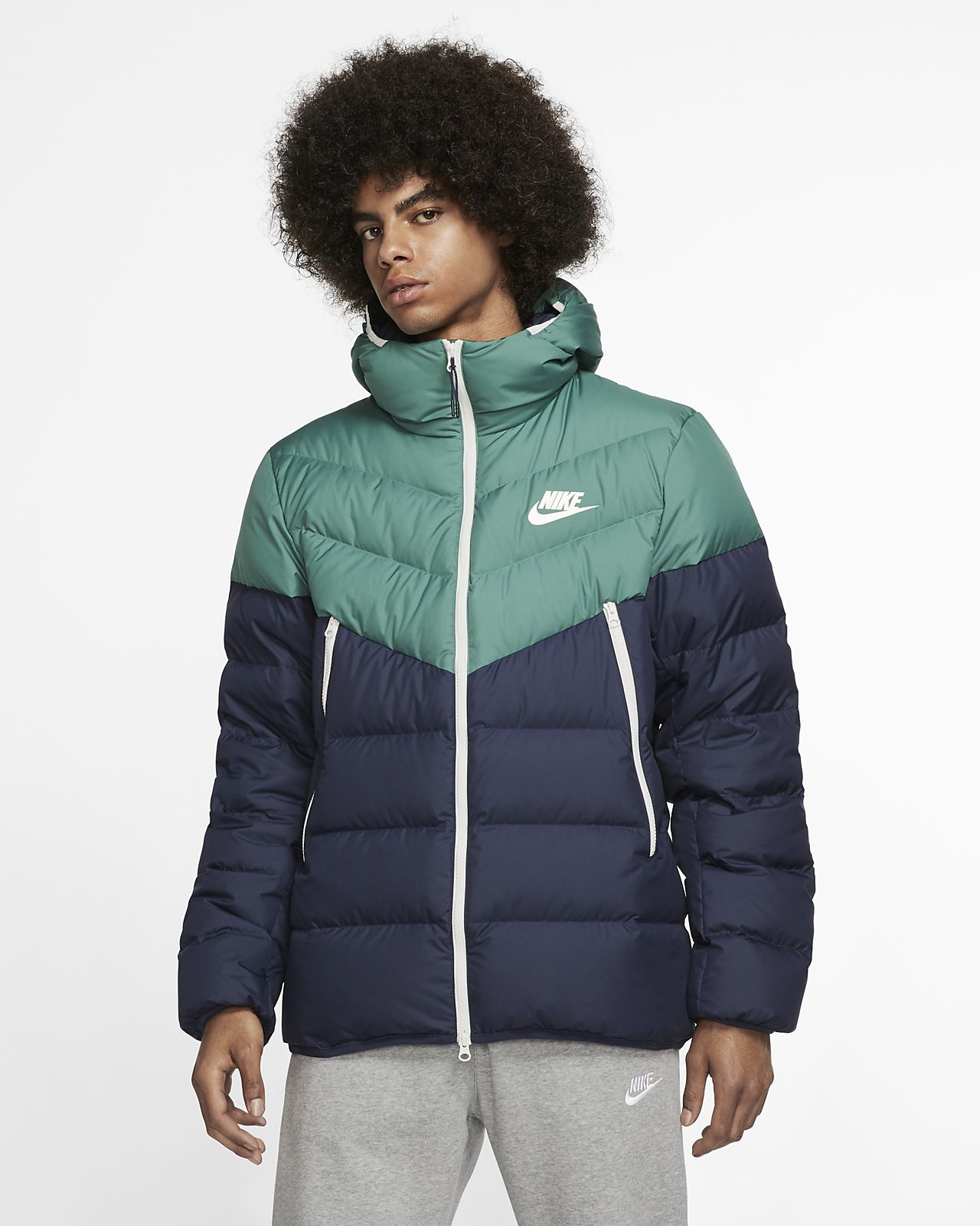 good out x more photos superior quality Nike Sportswear Windrunner Down-Fill Hooded Puffer Jacket