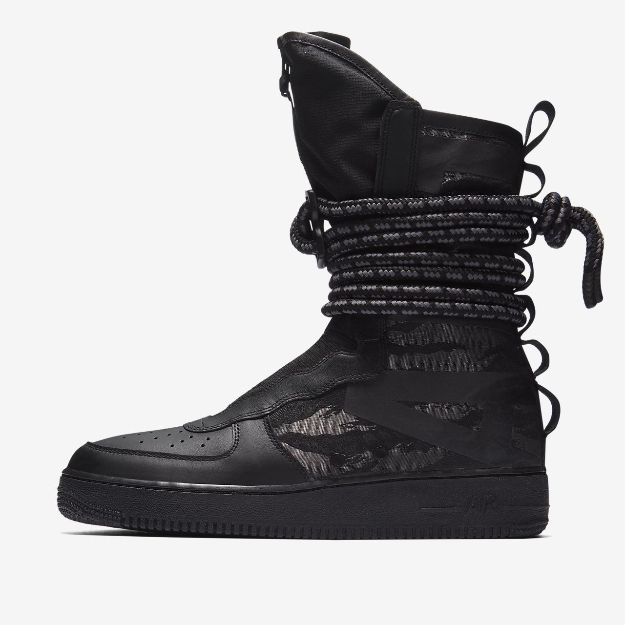 nike air force 1 high all black