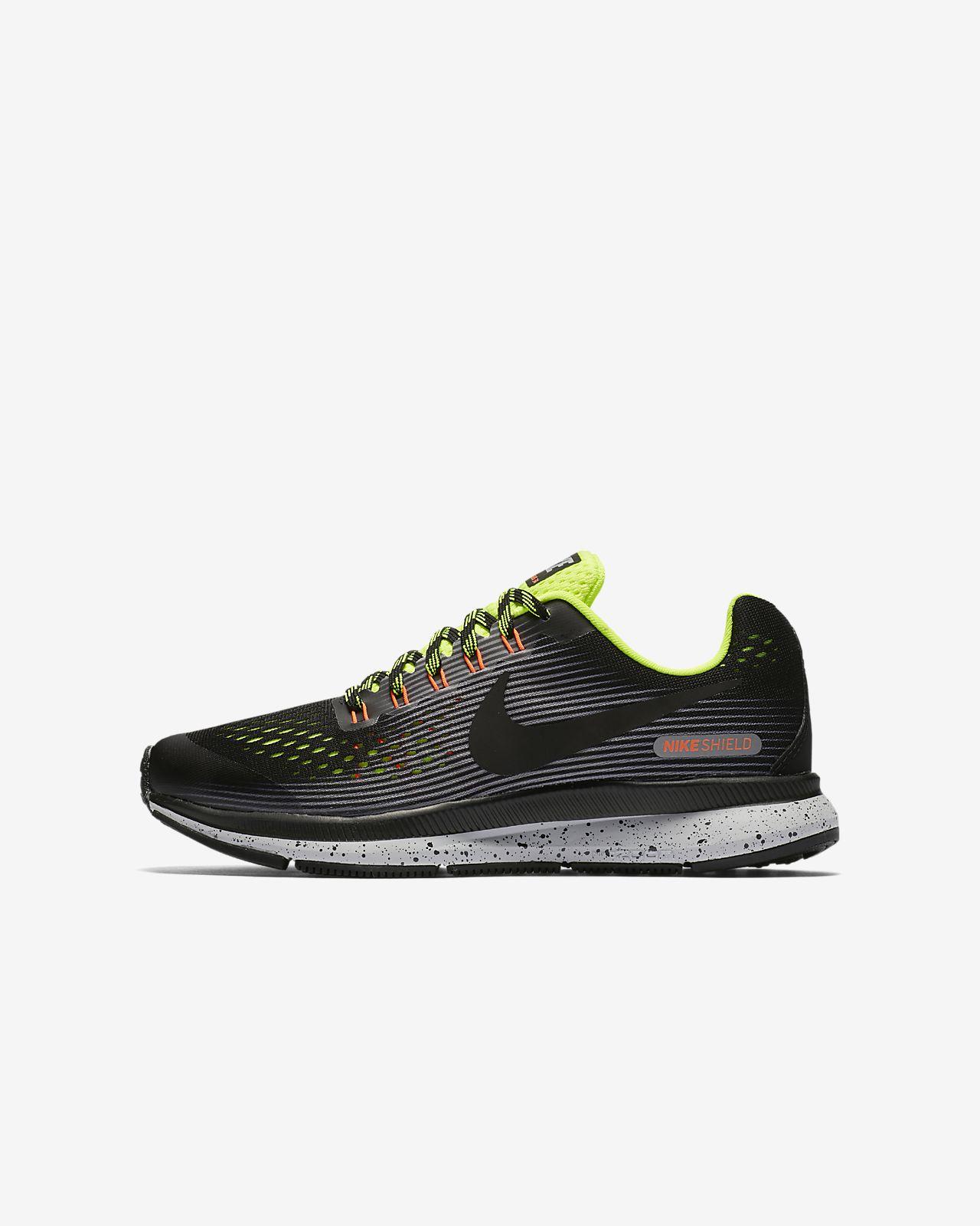 Nike AIR ZOOM PEGASUS 34 SHIELD Noir / Bleu - Chaussures Chaussures-de-running Femme